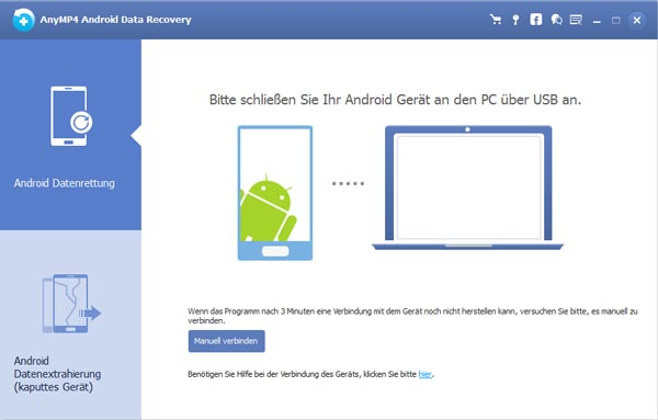 Android Data Recovery starten