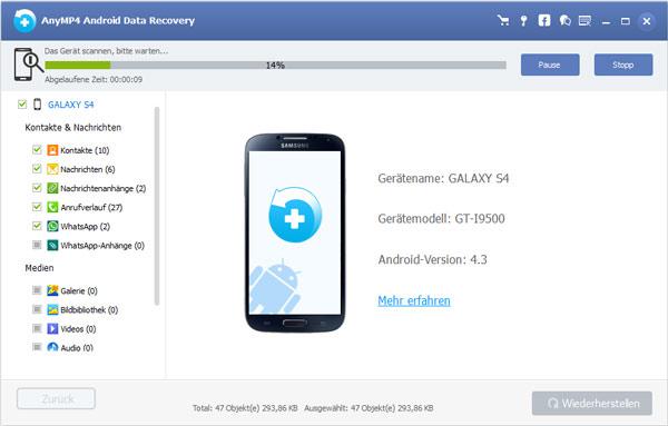Wie kann man Android gelöschte Videos wiederherstellen