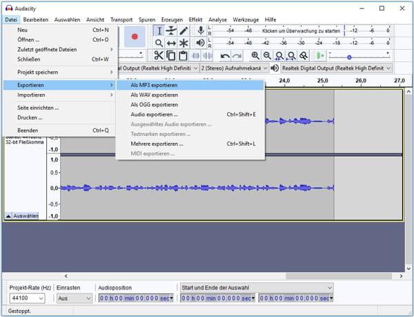 Audiodatei Aufnehmen