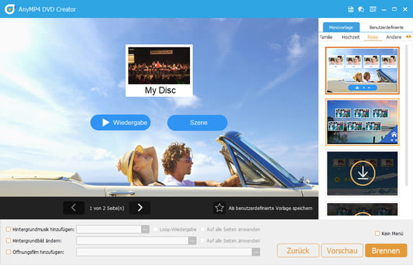DVD-Authoring mit AnyMP4 DVD Creator