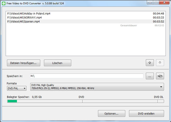 Free MP4 to DVD Converter