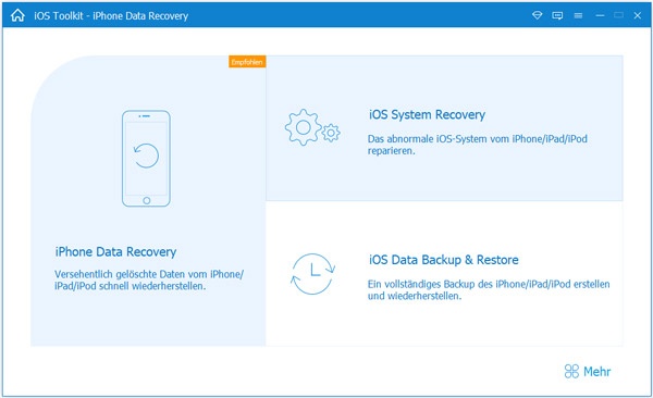 Die Safari Recovery Software starten