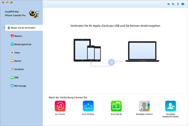 Mac iPhone Transfer Pro starten