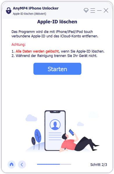 Anleitung von AnyMP4 iPhone Unlocker