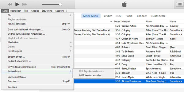 AAC in MP3 mit iTunes umwandeln