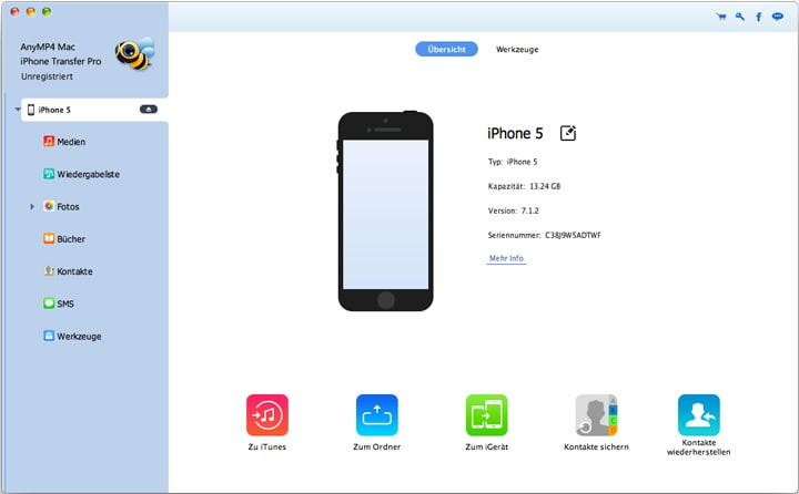 AnyMP4 iPad zu Mac Transfer