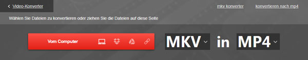 Online MKV to MP4 Converter starten