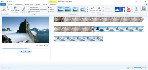 Windows Movie Maker: Videos zusammenfügen
